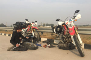 Honda CRF250L puncture repair in India
