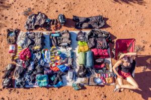Miri's luggage in Australia