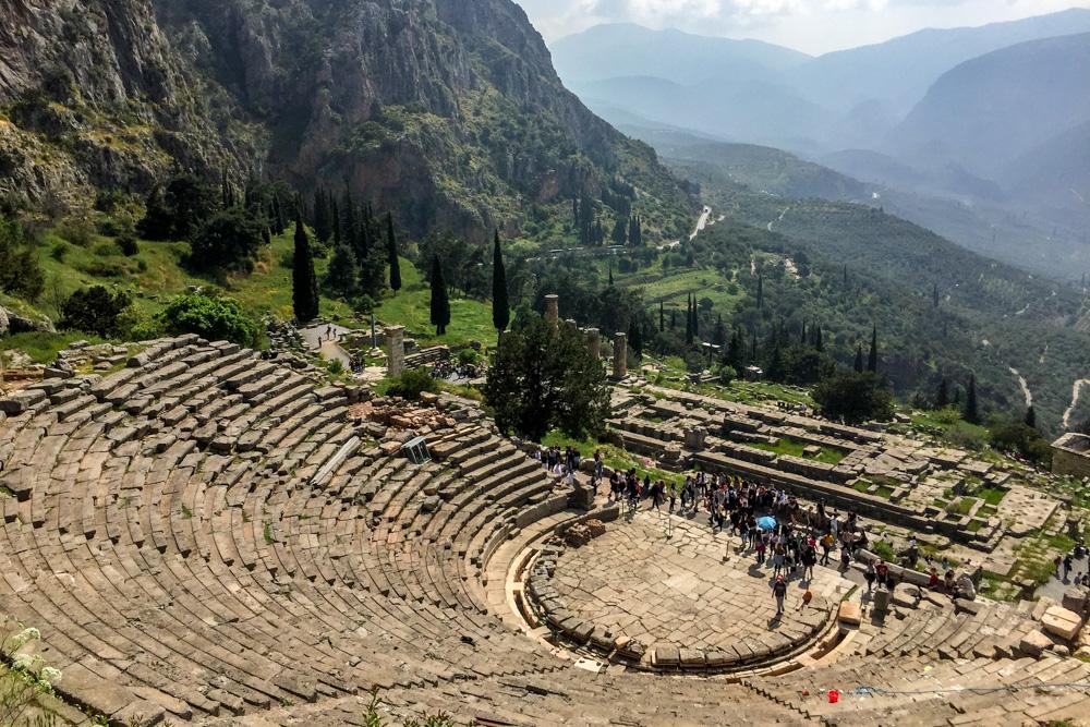 The ancient theatre of Delphi