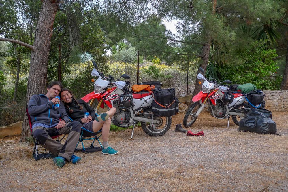 Our campsite in Delphi