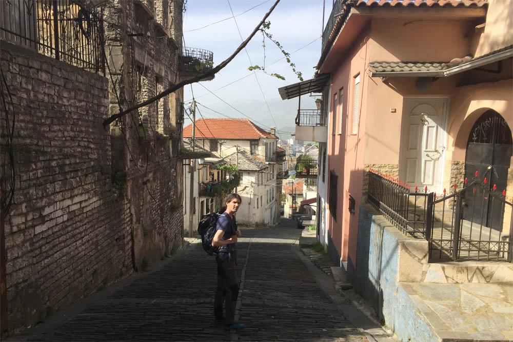 Gjirokaster's pretty old town