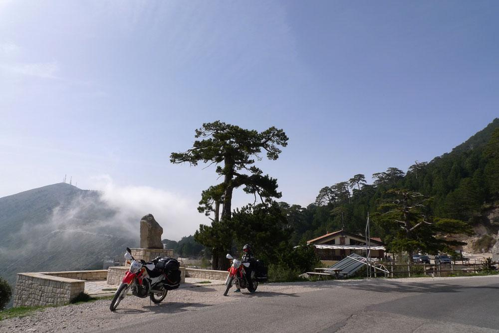 Liogara NP highest point of the pass