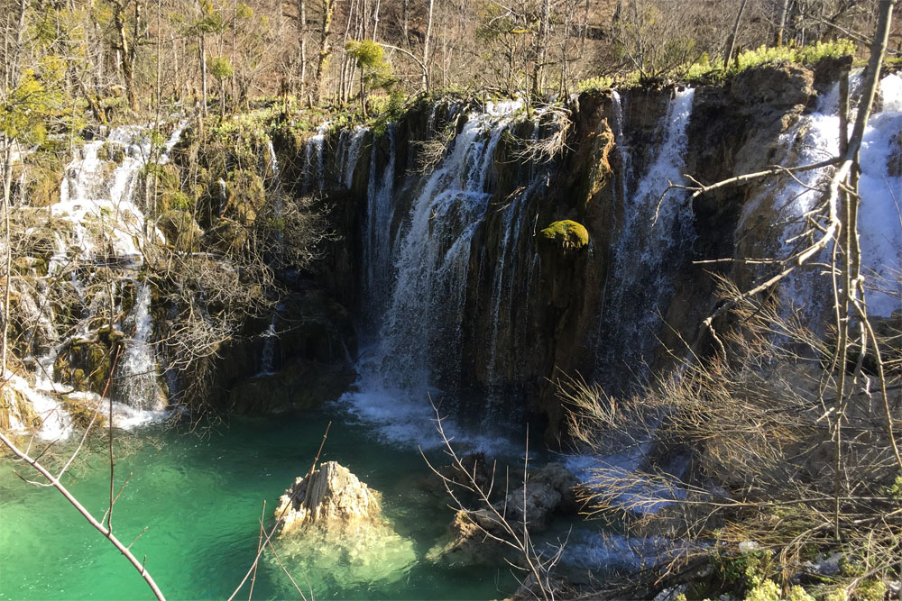 Waterfall in Plitvice NP