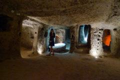 Miriam in Kaymakli underground city