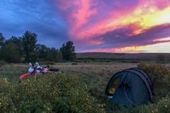 Sunset near Aktobe