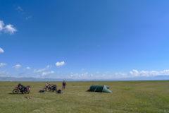 Camping in paradise at Song Kul