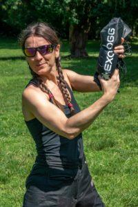 Miri holds Exotogg vest