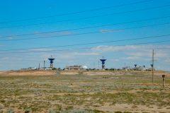 Rocket launch area in Baikonur