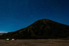 Mt. Bromo in the night