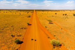Straight on forever in the outback