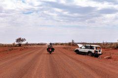 Car wrecks everywhere close to the aboriginal communities