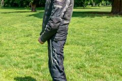 Tobi with Exotogg vest and riding Jacket side