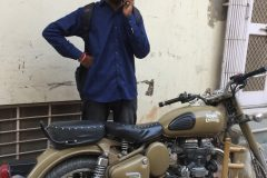 Raju and his nice Royal Enfield