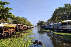 One of the canals in Alleppey