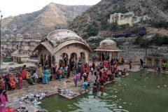 Bathing at Hanuman Ji Temple