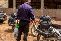 Motivated desinfection at the tajik border