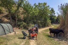 Camping at Valasht Lake