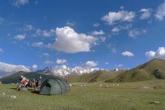 Camping near Kel Suu Lake