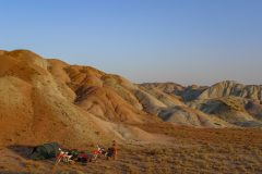 Camping in the Iranian desert