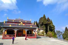 Miri at a temple in Gangtok