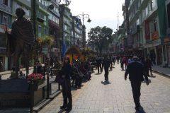 Main shopping area in Gangtok