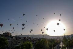 Hot air balloons in the morning