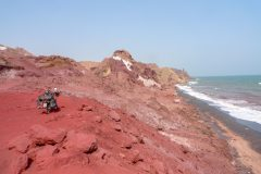 Colourful coastline in Hormuz