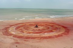 Ritual painting on the beach