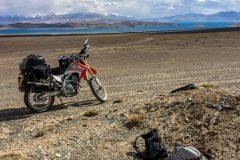 Miriam takes a nap at Karakul lake ~4000m