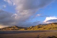 Beautiful scenery near Kel Suu Lake