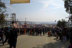 Entering Kumbh Mela