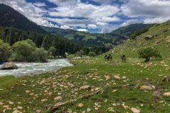 Beautiful side valley Kyrgyzstan