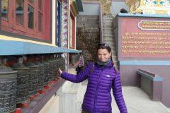 Prayer wheels temple Lava
