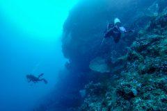 Starting the drift dive