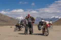 Miri and Robin beginning of Bartang Valley Takikistan