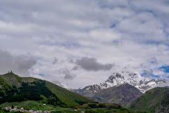 Mount Kazbegi always in clouds