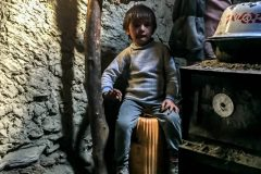 Inside the nomad's mud hut