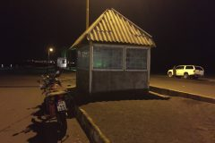 Our provisional police hut