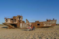 Ship wreck Aral lake