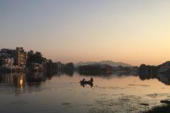 Sunset at Udaipur's lake