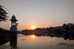 Fantastic sunset in Udaipur