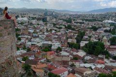 Miri on the castle in Tbilisi
