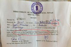 Weird Indian ticket