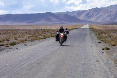 On the road to Karakul Lake Tajikistan