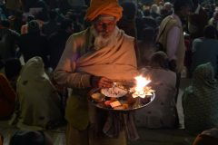 Holy man at a ceremony