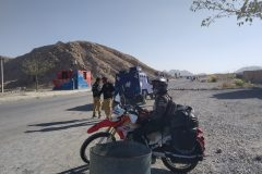 Waiting to ride into Quetta